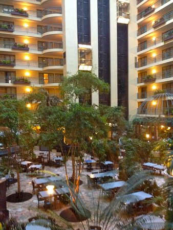 Embassy Suites by Hilton Minneapolis - Airport: Inside courtyard taken from the elevator