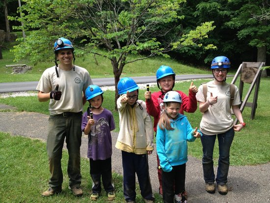 """Carter Caves State Resort: """"We loved it!"""" Saltpetre Kids Crawl with guides Rachael and Zac."""