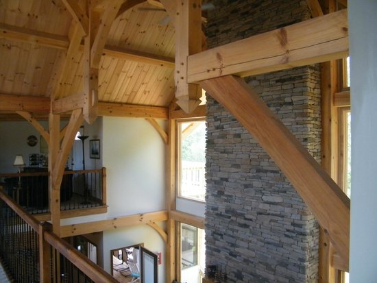 Bedford Landings Bed & Breakfast, LLC: Large heavy beam construction