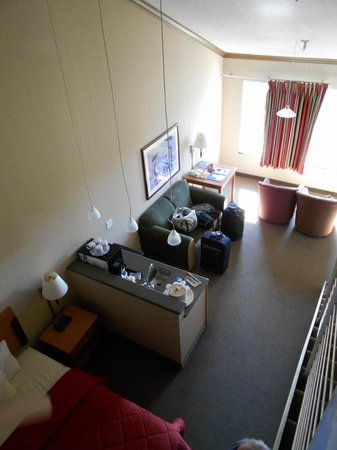 Comfort Inn and Suites: looking down from loft