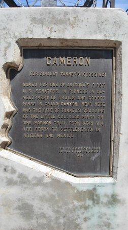 Cameron Trading Post : Marker at the bridge