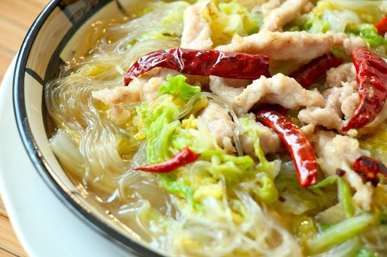 Written On Tea: 白菜粉丝 Chinese Cabbage with Vermicelli and Chicken