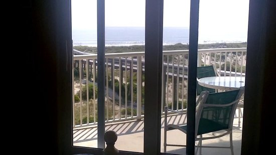 Summer Beach Resort: View from Master Bedroom with seperate entrance to balcony from Master BR