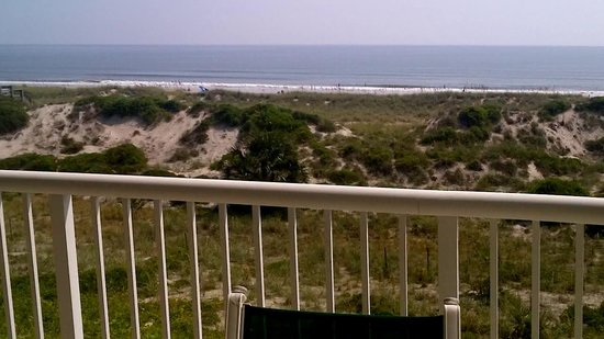 Summer Beach Resort View From Balcony Of