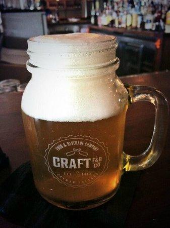 Craft F&B Co.: 20oz fresh brewed beer
