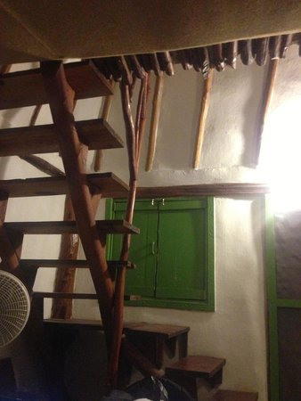 Secret Garden Hotel: the stairs from the bed