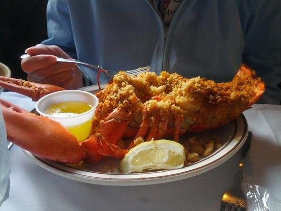 Sandy Point Restaurant: King Stuffed Baked Lobster!