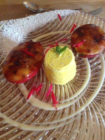 Ten Twenty Four: Tamarillo Creme Brulee with lemongrass icrecream - delicious
