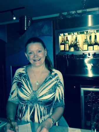 SeaBlue Restaurant & Wine Bar: Tracy Owns and runs the Front of the House
