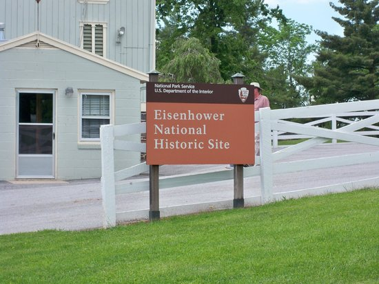 Eisenhower National Historic Site: Near bus drop off