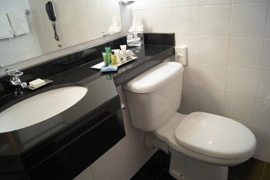 Hilton Belfast: Baño práctico y limpio
