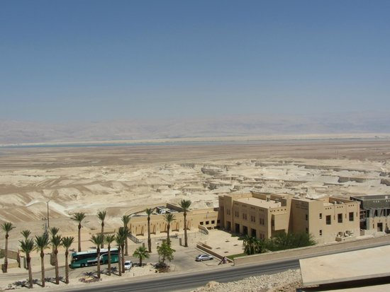 The Masada Hostel: The view on the hostel