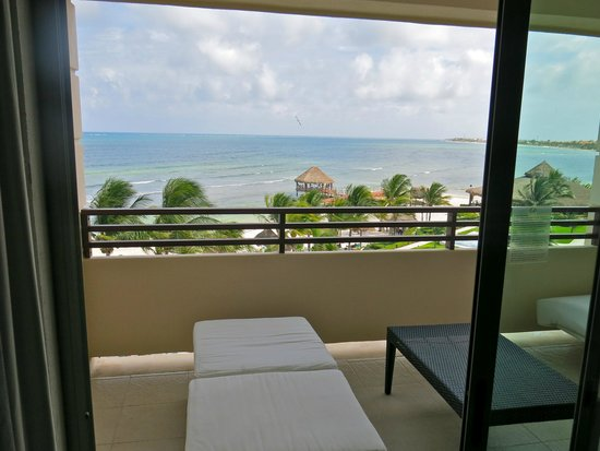 Secrets Silversands Riviera Cancun : ocean front from 1st room 4327