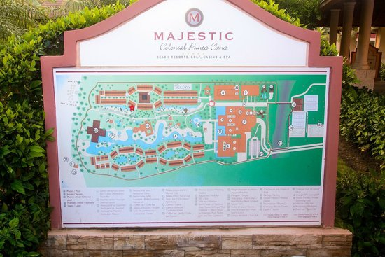 Majestic Colonial Punta Cana : Resort Map, red star is #3132!