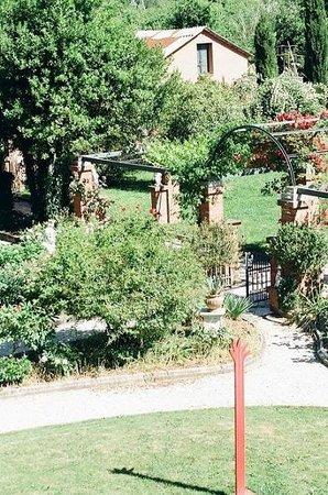 Villa Belverde: Vista del jardín desde mi habitación
