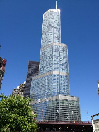 Trump International Hotel & Tower Chicago: The hotel  from the river