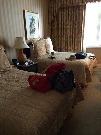 Hotel Monteleone: our room.  a bit small, but very clean and elegant.