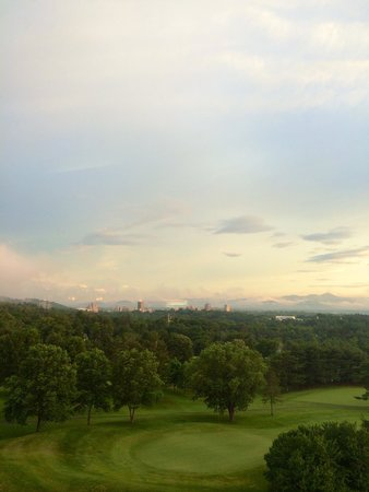 The Omni Grove Park Inn: Asheville from the GPI.