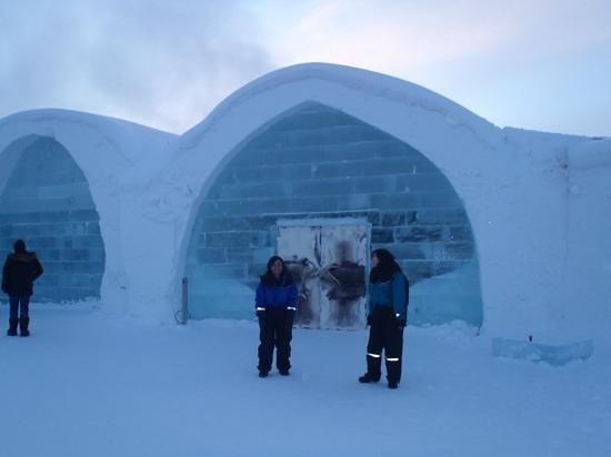 Icehotel: entrada do hotel