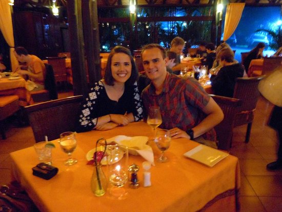 Altamira Restaurant: David and I at Altamira after enjoying our delicious appetizers and entrees