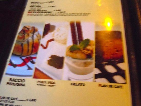 Que Rico Arenal: dessert menu
