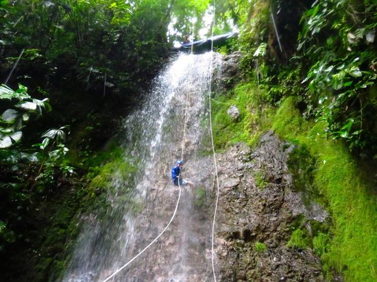 Pure Trek - Tours: David descending third waterfall (we purchased rights to these pictures from pure trek)