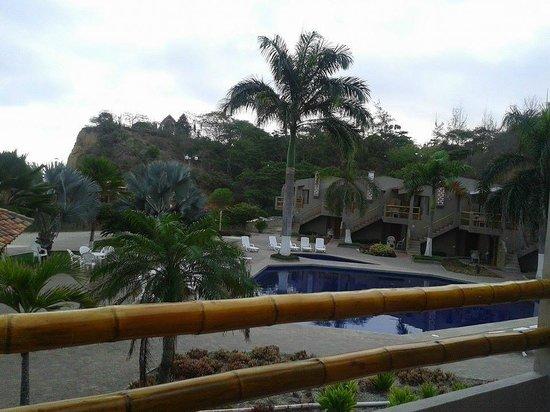 Hotel Baja Montanita: desde el balcón de la habitación