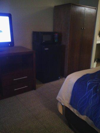 Comfort Inn & Suites: Fridge and microwave