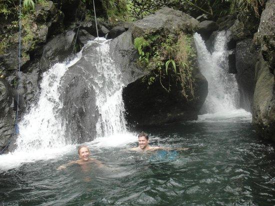 Tahiti Safari Expedition  - Day Tours: private swim in the waterfalls