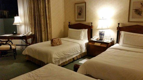 Hotel Chinzanso Tokyo : ガーデンビューのツインにトリプルでとりました。ここに、ルームサービスのテーブルを入れても十分な広さ。