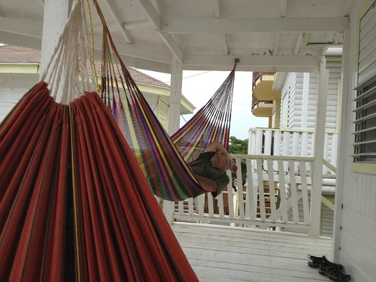 Costa Maya Beach Cabanas: Hammocks on deck of room #6