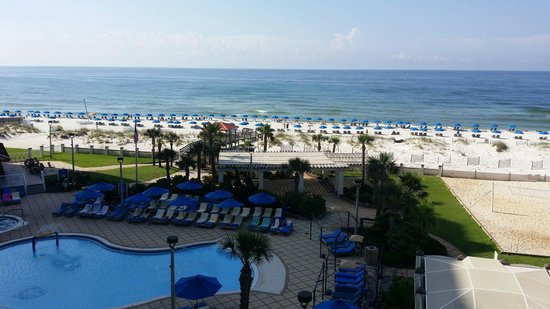 Hilton Pensacola Beach: Perfect view from room 402!