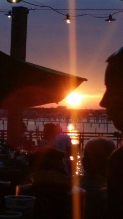 Red Fish Blue Fish: Perfect sunset from our table