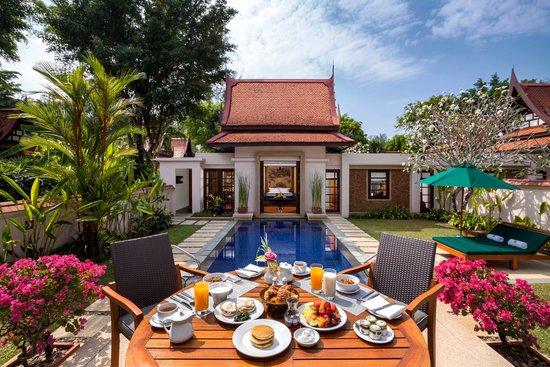 Banyan Tree Phuket: Lagoon Pool Villa in villa breakfast