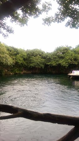 Sandos Caracol Eco Resort : Cenote near the hotel lobby
