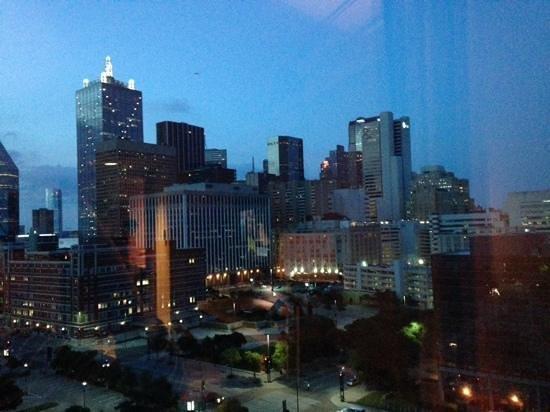 Omni Dallas Hotel: View of the Dallas skyline from our room