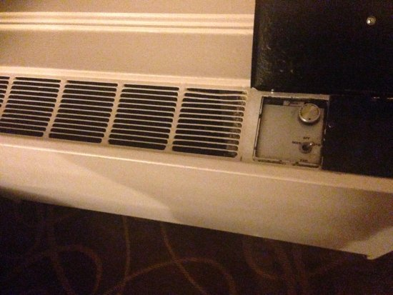 Renaissance Cleveland Hotel: No thermostat - seriously - in 2014