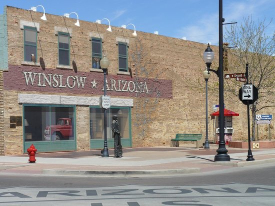 BEST WESTERN PLUS Winslow Inn: Corner of Winslow Arizona.