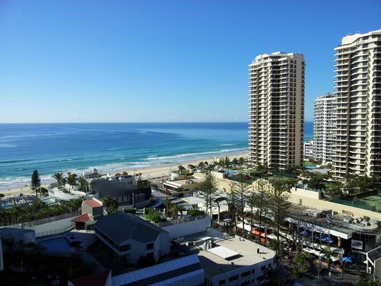 Hilton Surfers Paradise Hotel: View from the balcony