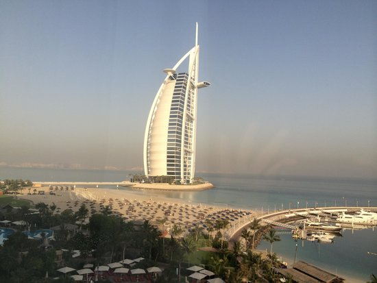 Jumeirah Beach Hotel: Great room view of the Burj