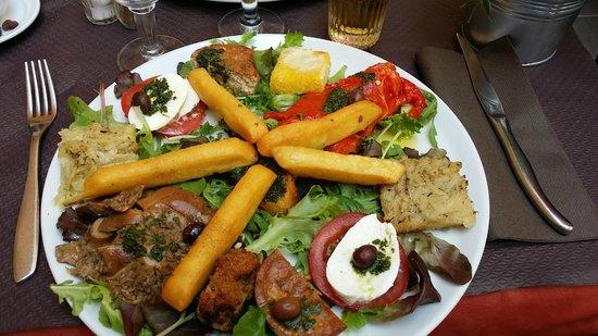 Lu fran calin: Assiette variée