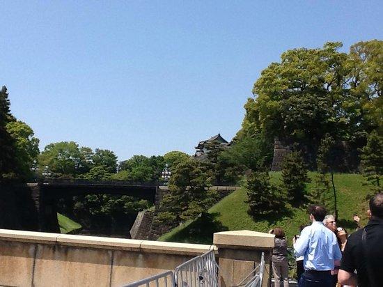 Imperial Palace: Ponte de pedra, ponte de ferro e teto do palacio