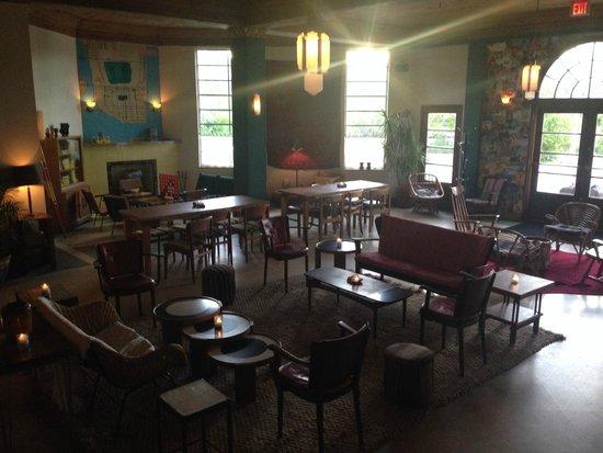 Freehand Miami: lobby/breakfast area