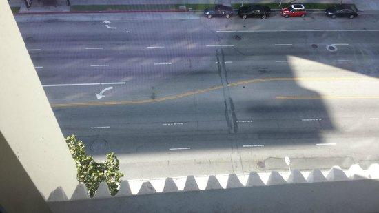 Kimpton Hotel Palomar Los Angeles Beverly Hills: Aussicht vom Zimmer auf Wilshire Blvd