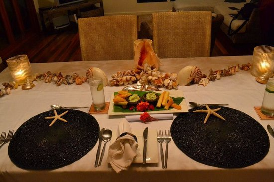 Taveuni Palms Resort : Amazing table settings