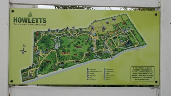 Howletts Wild Animal Park: Park Map