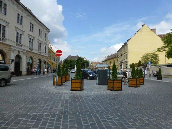 Burgpalast: Market outside Buda Castle