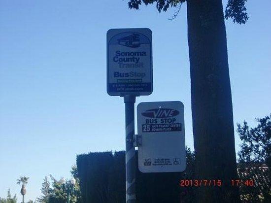 Sonoma Plaza : ソノマ・プラザ内のバス停