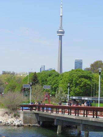 Parc des Îles de Toronto : CN Tower from Centre Island pier