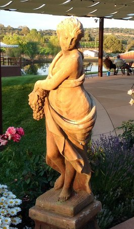 Naggiar Vineyard & Winery: Lady of the Grapes greets you